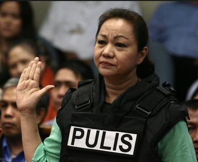 Janet Lim-Napoles attending a Senate hearing.