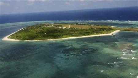 An aerial view shows the Pagasa (Hope) Island, part of the disputed Spratly group of islands, in the South China Sea located off the coast of western Philippines July 20, 2011. Courtesy REUTERS/Rolex Dela Pena