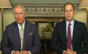 """Royal father and son, Princes Charles and William, team up to create a video message urging the world to """"unite for wildlife"""" and end illegal wildlife trade.  Courtesy Reuters. Photo grabbed from Reuters video"""