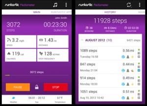 Runtastic Pedometer Fitness App
