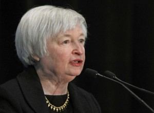Federal Reserve Vice Chair Janet Yellen addresses the 29th National Association for Business Economics Policy Conference in Washington March 4, 2013. CREDIT: REUTERS/GARY CAMERON