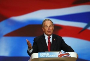 New York City Mayor Michael Bloomberg speaks at the Conservative Party conference in Birmingham, central England October 10, 2012 in this file photo. CREDIT: REUTERS/DARREN STAPLES