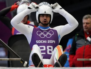 India's Shiva Keshavan prepares for the start during the men's luge training at the Sanki sliding center in Rosa Khutor, a venue for the Sochi 2014 Winter Olympics near Sochi February 5, 2014. CREDIT: REUTERS/FABRIZIO BENSCH
