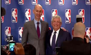 30-year National Basketball Association commissioner David Stern retires, handing over the job to his former deputy commissioner Adam Silver.  Courtesy Reuters/ Photo grabbed from Reuters video