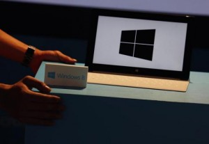 A Microsoft Surface tablet is seen during the launch of Microsoft Windows 8 operating system in Hong Kong October 26, 2012. Credit: Reuters/Bobby Yip