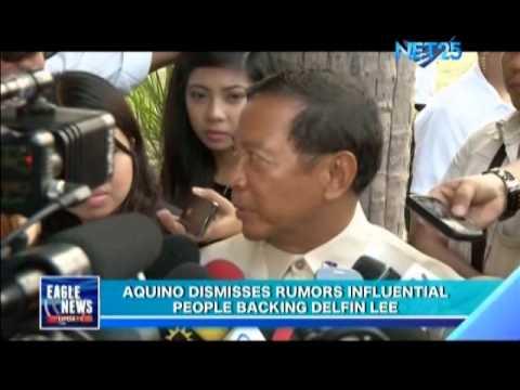 Aquino Dismisses Rumors Influential People Backing Delfin Lee