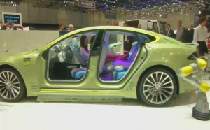 Swiss concept car firm Rinspeed is showing off its latest prototype vehicle at the Geneva Motor Show, a driverless car it says represents the future of transportation.  (Courtesy Reuters. Photo grabbed from Reuters video)