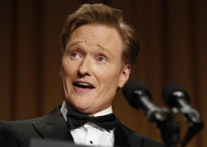 Comedian Conan O'Brien speaks at the White House Correspondents Association Dinner in Washington April 27, 2013. Credit: Reuters/Kevin Lamarque