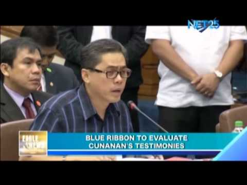 Senate Blue Ribbon Committee to Evaluate Cunanan's Testimony