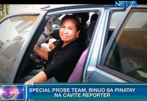 Cavite journalist Rubylita Garcia