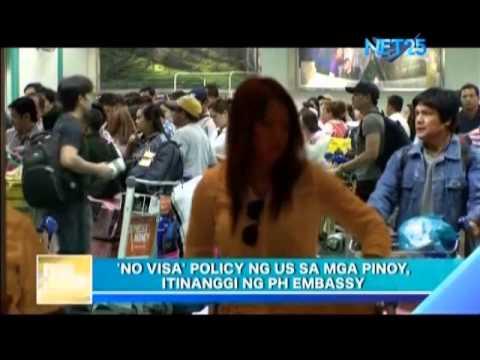 "Philippine embassy denies US ""No Visa"" policy"
