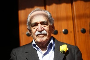 Colombian Nobel Prize laureate Gabriel Garcia Marquez stands outside his house on his 87th birthday in Mexico City in this March 6, 2014 file photo. Credit: Reuters/Edgard Garrido/Files