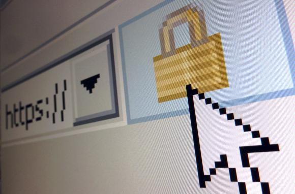 A lock icon, signifying an encrypted Internet connection, is seen on an Internet Explorer browser in a file photo illustration in Paris April 15, 2014. Credit: Reuters/Mal Langsdon/Files