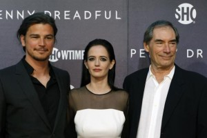 """Cast members Hartnett, Green and Dalton arrive for the world premiere of television series """"Penny Dreadful"""" in New York"""