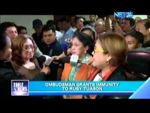 Ombudsman grants immunity to Tuason in PDAF scam
