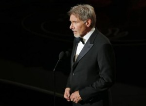 Ford introduces film clips at the 86th Academy Awards in Hollywood