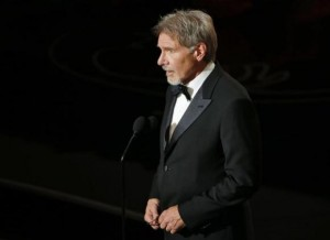 Harrison Ford introduces film clips at the 86th Academy Awards in Hollywood, California March 2, 2014. Credit: Reuters/Lucy Nicholson