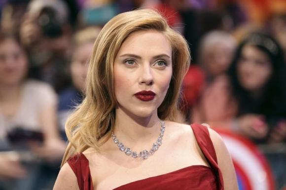 Actress Scarlett Johansson at Shepherds Bush in London March 20, 2014.  Credit: Reuters/Paul Hackett