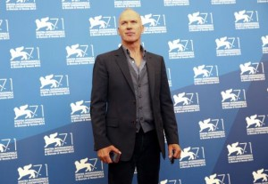 """U.S. actor Michael Keaton poses during the photo call for the movie """"Birdman or (The unexpected virtue of ignorance)"""" at the 71st Venice Film Festival"""