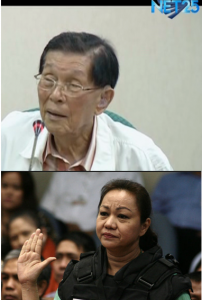 """File photos of Senate Minority Floor Leader Juan Ponce Enrile and businesswoman Janet Lim Napoles.  Both have entered a plea of """"not guilty"""" to the graft charges in connection to the pork barrel scam on Friday. Sept 5."""