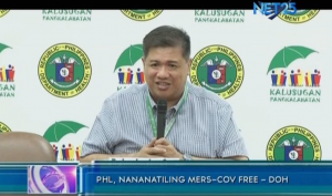 DOH spokesperson Dr. Lyndon Lee Suy said the Philippines remains a MERS-CoV free country in a press conference on Friday, Sept. 5, 2014. (Eagle News Service)
