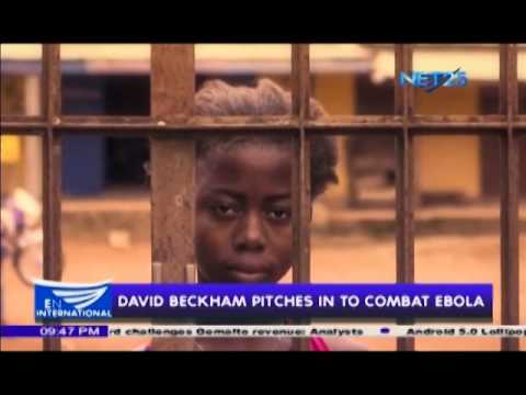 Beckham pitches in to combat Ebola