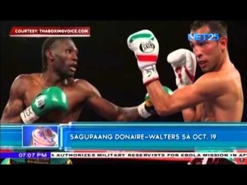 Upcoming match between Donaire and Walters