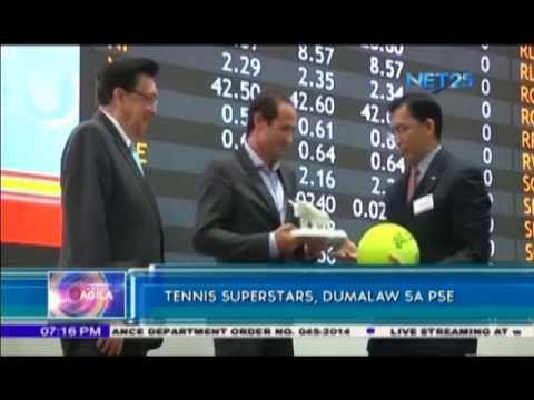 Players of International Premier Tennis League visit Philippine Stock Exchange
