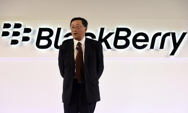 BlackBerry Chief Executive John Chen speaks during the official launch of the Passport smartphone in Toronto, September 24, 2014.  REUTERS/Aaron Harris