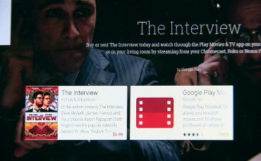 "Sony Pictures makes its controversial comedy, ""The Interview,"" available on Wednesday (December 24) for online streaming on Google, YouTube, among other online video platforms. (Courtesy Sony Pictures/ Photo grabbed from Reuters material On play.google.com)"