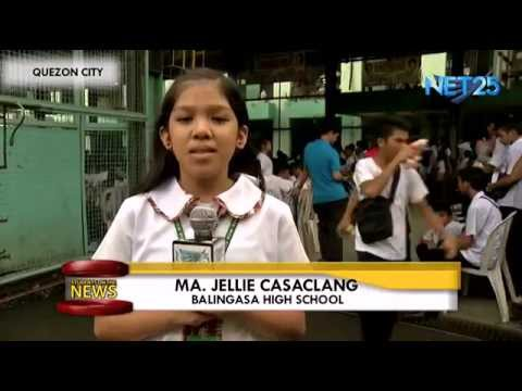 Students on the News – Balingasa High School National Book Month