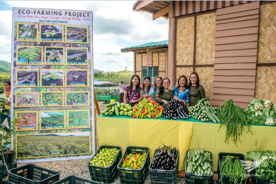 Vegetables produced from the eco-farming site at the EVM Self-Sustainable Resettlement Community in Alangalang, Leyte. (Photo courtesy INC Executive News)