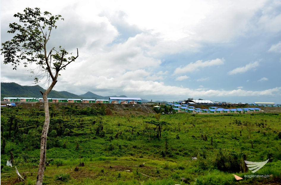 The Iglesia Ni Cristo's EVM Self-Sustainable Resettlement Community in Bgy. Langit, Alangalang, Leyte as seen from afar. (Photo courtesy FYM Foundation)