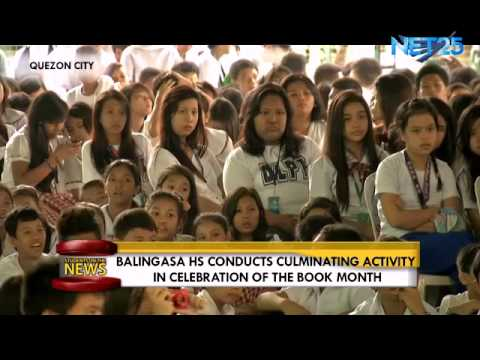 Students on the News – Balingasa High School celebrates Book Month