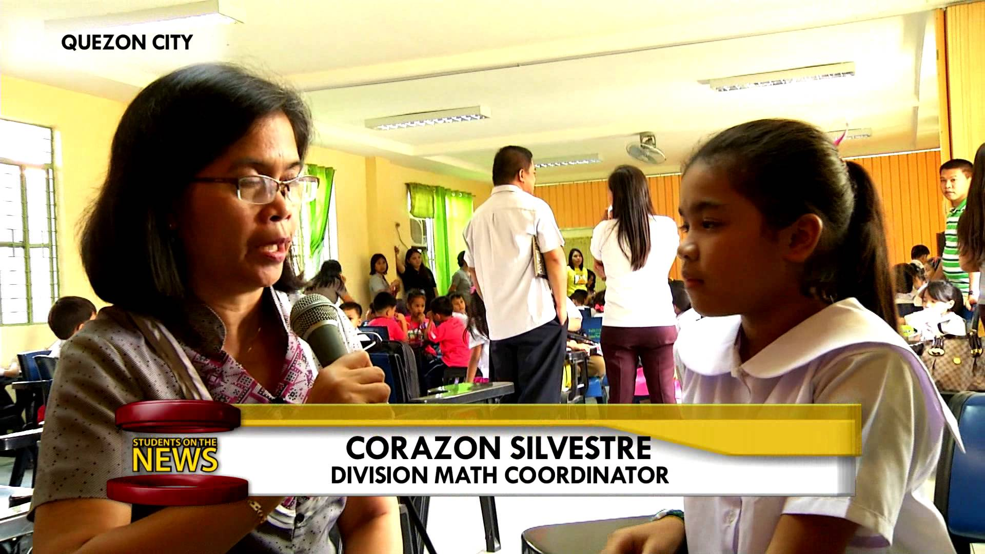 Students on the News – Cubao Elementary School MTAP