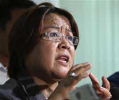 File photo of Justice Secretary Leila de Lima