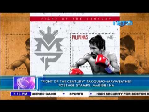 Pacquiao Mayweather stamps now available