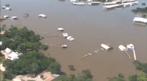 Floods wreak havoc in Oklahoma after torrential rains batter the state. (Photo grabbed from Reuters video/Courtesy Reuters)