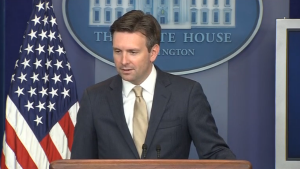 White House spokesman Josh Earnest said President Barack Obama is considering the security situation in the South China Sea. (Photo grabbed from Reuters video/Courtesy Reuters)