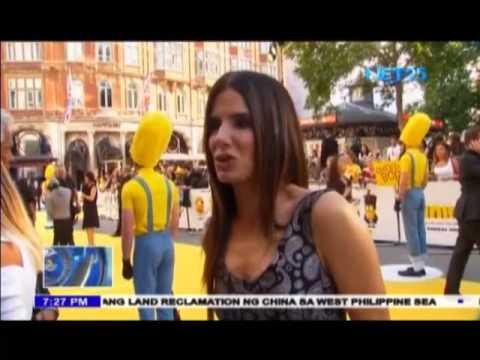 "Sandra Bullock walks the yellow carpet in ""Minions"" premiere"