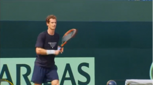 Andy Murray says he is ready to play for Britain in their Davis Cup quarter-final against France after the disappointment of losing to Roger Federer at Wimbledon while Richard Gasquet says he is looking forward to playing on grass again after reaching the semi-finals at the All England Lawn Tennis Club last week. (A photo captured from Reuters video)