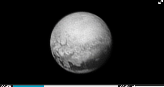 NASA officials say they see black and white images of Pluto's geological patterns sent back to earth by New Horizons' mission as it is set to be the first probe to visit the distant world.