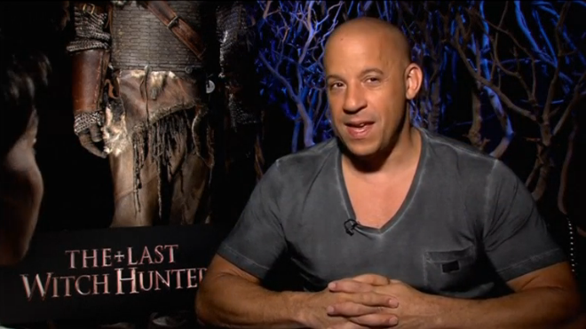 """Vin Diesel shows off his supernatural powers in upcoming film """"The Last Witch Hunter."""" Days after being named the third highest paid actor in the world, Diesel calls the ranking surreal. (Photo courtesy of Lionsgate)"""