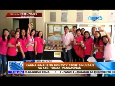 "Kauna-unahang ""Honesty Store"" binuksan sa Sto. Tomas, Pangasinan"