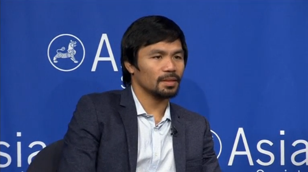 With one fight left in his career, Manny Pacquiao shifts his focus towards the political arena and a seat in the Senate of the Philippines, with whispers of a possible presidential bid in the future. (Photo captured from Reuters video)