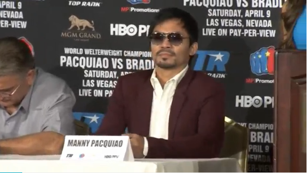Pacquiao happy to hang up gloves after third bout with Bradley