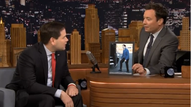 U.S. presidential candidate Rubio makes first appearance during 'Tonight Show'