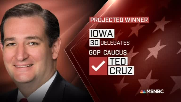 Cruz beats Trump in Iowa presidential race