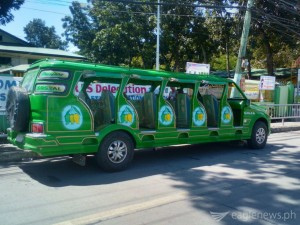 This unique jeepney features the mangoes of Guimaras, the province's pride. These jeepneys can be seen in Iloilo and Guimaras ferrying tourists around the island. (Photo taken by Eagle News correspondent Ian Rose)
