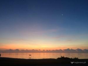 Sunrise at Corpus Christi shoreline by Gilbert Basa